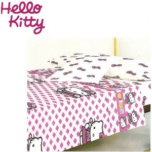 Sábanas Hello Kitty cuadros 90