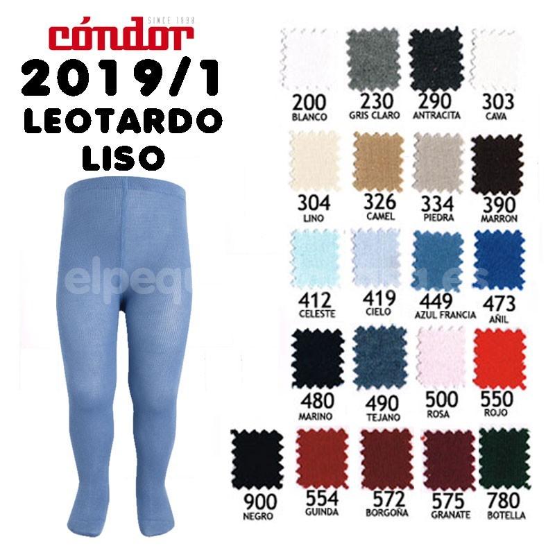 Leotardo condor liso for Colores condor