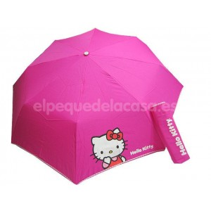 Paraguas Hello Kitty fuxia 5-4854P